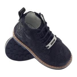 Bartek Zippered ankle boots 81852 navy blue 3