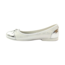 American Club Ballerinas shoes with an American bow white 2