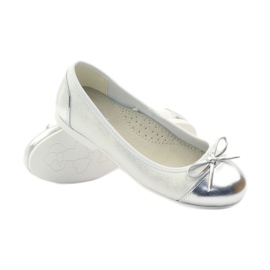 American Club Ballerinas shoes with an American bow white 3