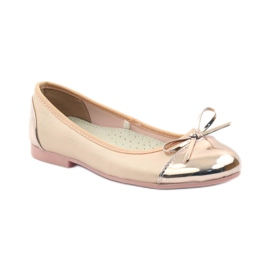 American Club Ballerinas shoes with an American bow pink yellow white 1