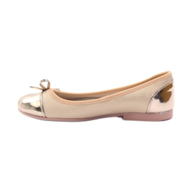 American Club Ballerinas shoes with an American bow pink yellow white 2