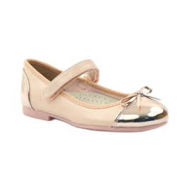 American Club Velcro ballerinas shoes American 14297 pink yellow 1