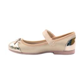 American Club Velcro ballerinas shoes American 14297 pink yellow 2