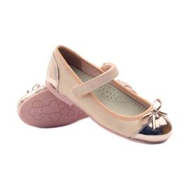 American Club Velcro ballerinas shoes American 14297 pink yellow 3