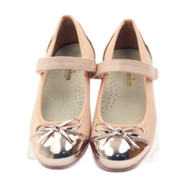 American Club Velcro ballerinas shoes American 14297 pink yellow 4