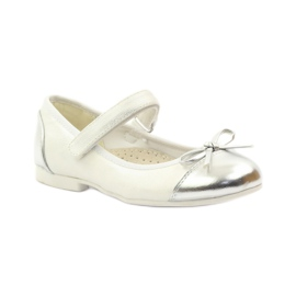 American Club Velcro ballerinas shoes American 14297 grey white 1