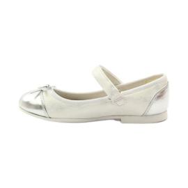 American Club Velcro ballerinas shoes American 14297 grey white 2