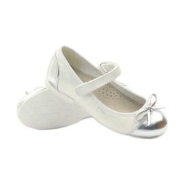 American Club Velcro ballerinas shoes American 14297 grey white 3