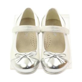 American Club Velcro ballerinas shoes American 14297 grey white 4