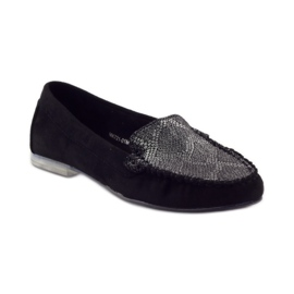 Shoes suede moccasins Sergio Leone 721 black grey 1