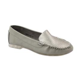 Shoes suede moccasins Sergio Leone 721 grey 1
