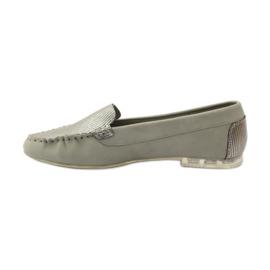 Shoes suede moccasins Sergio Leone 721 grey 2