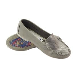 Shoes suede moccasins Sergio Leone 721 grey 3