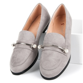 Seastar Loafers With Pearls grey 3