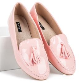 Varnished VICES moccasins pink 5