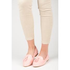 Varnished VICES moccasins pink 1