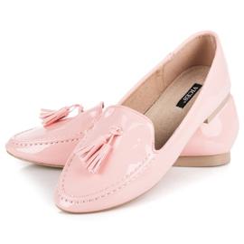 Varnished VICES moccasins pink 4