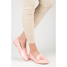 Varnished VICES moccasins pink 2
