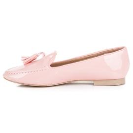 Varnished VICES moccasins pink 3