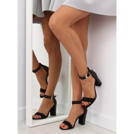 Black black high-heeled sandals 6