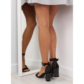 Black black high-heeled sandals 1