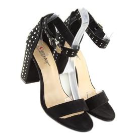 Black black high-heeled sandals 2