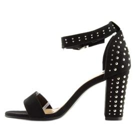 Black black high-heeled sandals 4