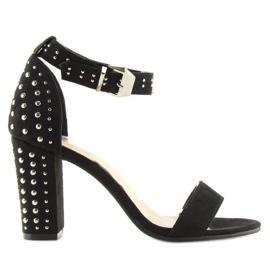 Black black high-heeled sandals 7