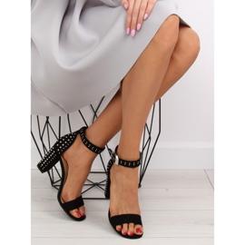 Black black high-heeled sandals 8
