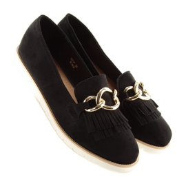 Women's loafers black G237 black 1