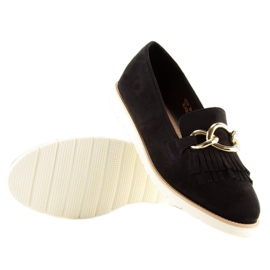 Women's loafers black G237 black 4