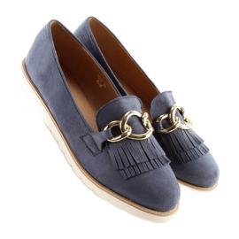 Women's loafers navy blue G237 blue 1