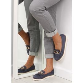 Women's loafers navy blue G237 blue 2