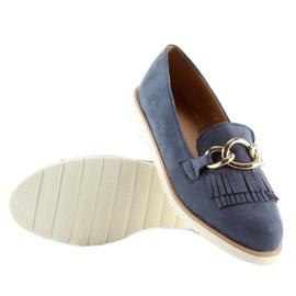 Women's loafers navy blue G237 blue 3