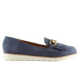 Women's loafers navy blue G237 blue 5