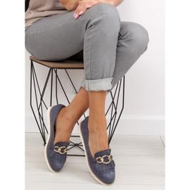Women's loafers navy blue G237 blue 6