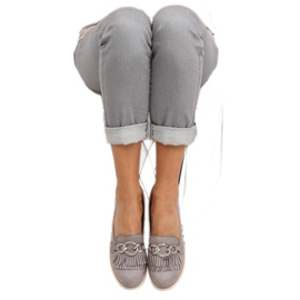 Gray Women's loafers G237 gray grey 4