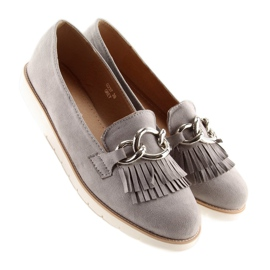 Gray Women's loafers G237 gray grey 1