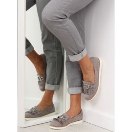 Gray Women's loafers G237 gray grey 2
