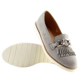 Gray Women's loafers G237 gray grey 3