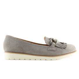 Gray Women's loafers G237 gray grey 5