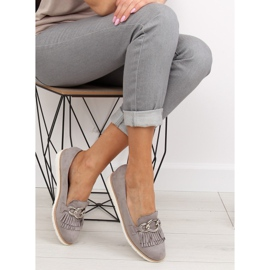Gray Women's loafers G237 gray grey 6