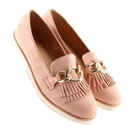 Women's loafers pink G237 pink 1