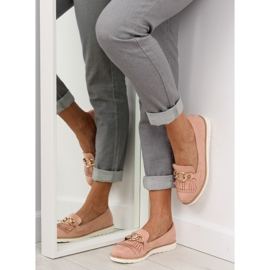 Women's loafers pink G237 pink 2