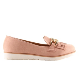 Women's loafers pink G237 pink 5
