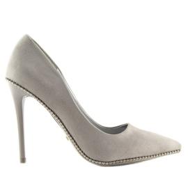 Elegant gray women's shoes NF-23P Gray grey 4