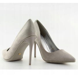 Elegant gray women's shoes NF-23P Gray grey 6