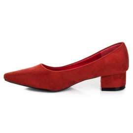 Best Shoes Suede pumps with low heels red 1