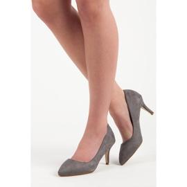 Suede High Heels grey 2