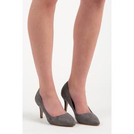 Suede High Heels grey 1